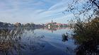 Stadtsee in Mölln mit Ausblick auf Altstadt